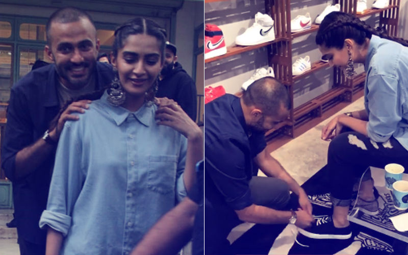Anand Ahuja Goes Down On His Knees To Tie Sonam Kapoor's Shoelace