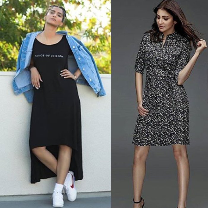 sonam kapoor and anushka sharma wear their respective brands