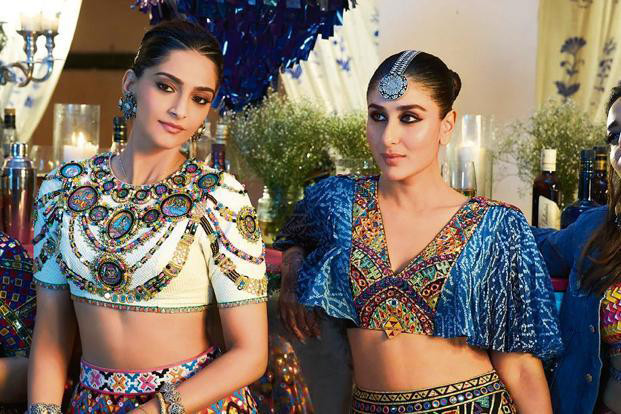 sonam kapoor and kareena kapoor in veerey di wedding