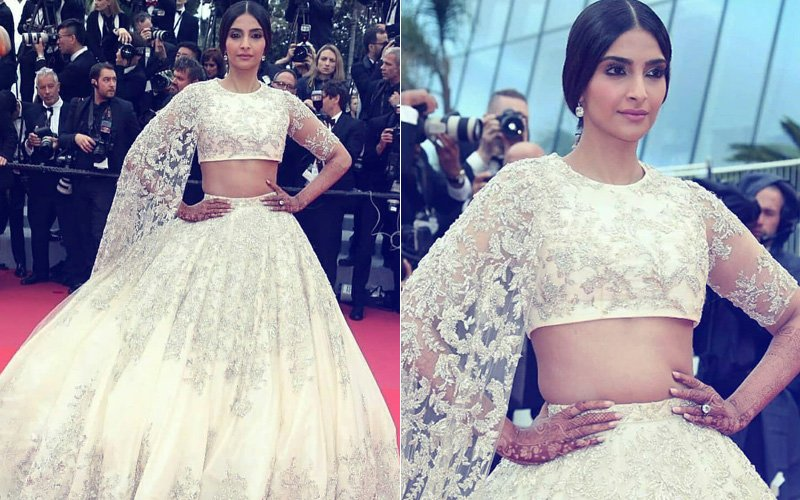 Cannes 2018: Sonam Kapoor Gives A Desi Twist To Her Ralph & Russo Outfit