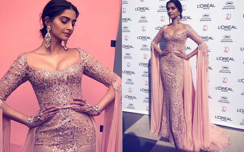 Cannes Film Festival 2017: Sonam Kapoor Is Sexy In A Plunging Pink Gown