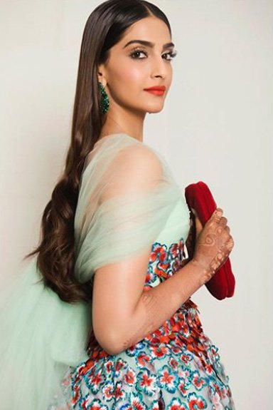 sonam kapoor is all smiles