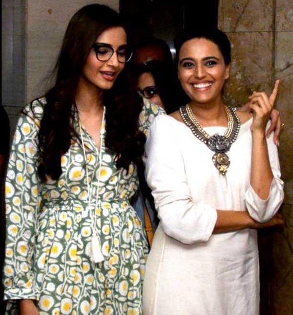 Sonam Kapoor And Swara Bhaskar
