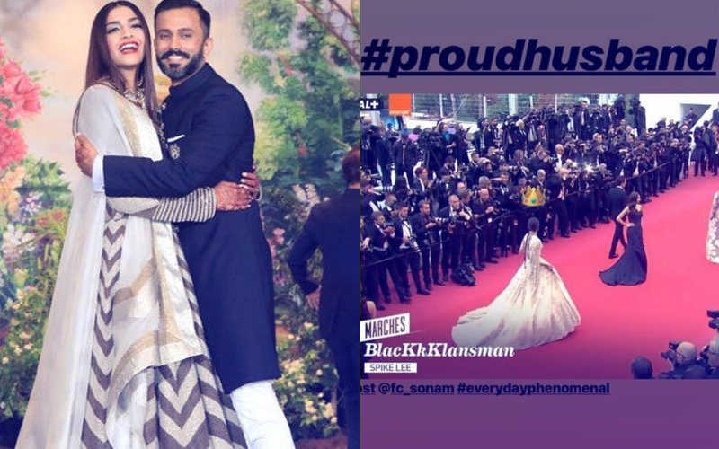 Anand Ahuja Is A Proud Husband As Sonam Kapoor Walks The Red Carpet At Cannes