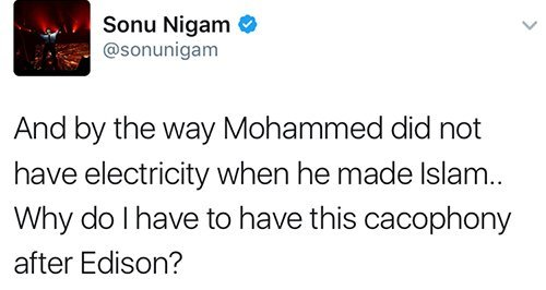 sonu nigam comments about prophet mohammed