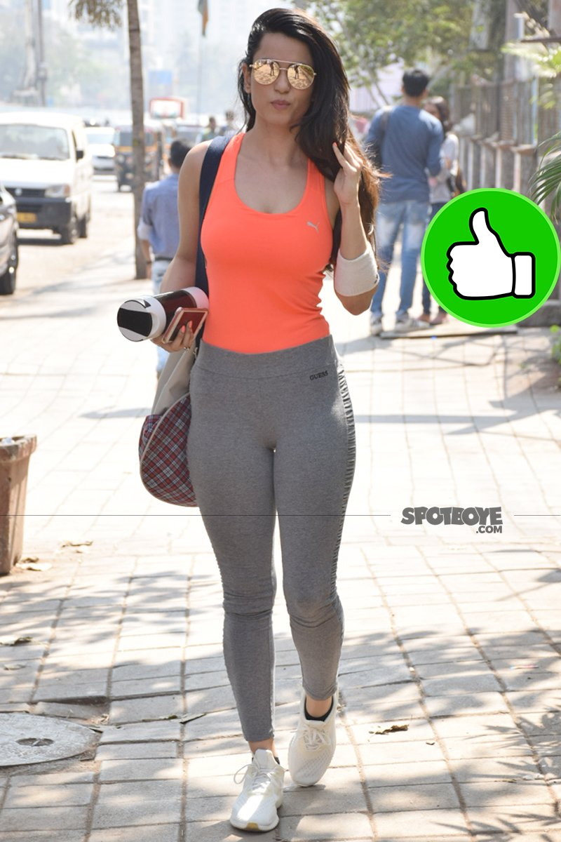 soundarya sharma snapped post gym session