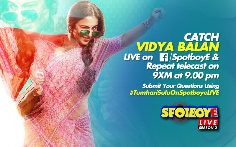 SPOTBOYE LIVE: Vidya Balan Live On Facebook!