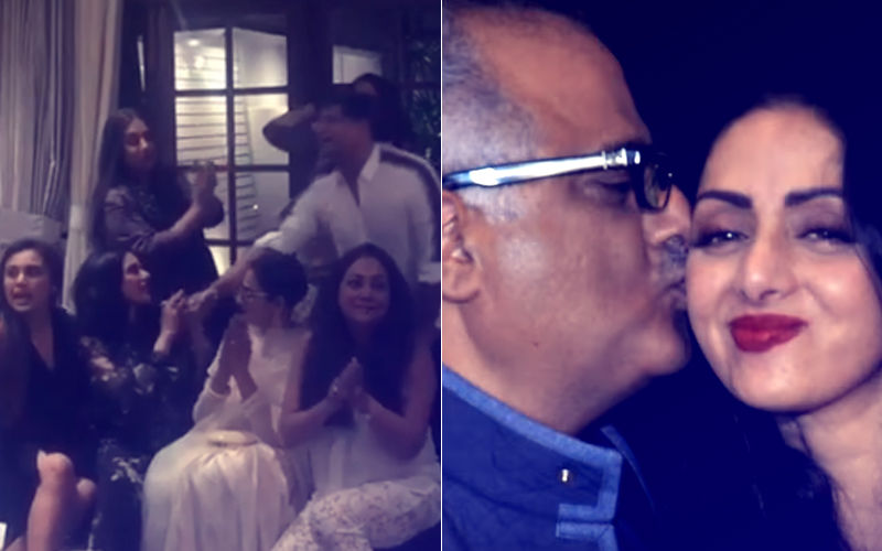 Sridevi's 55TH Birth Anniversary: Last Year, This Day- Actress Partied At Manish Malhotra's House; Boney's Affectionate Kiss