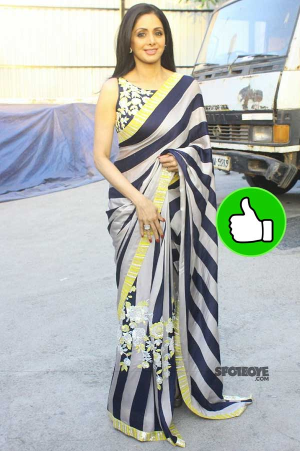 sridevi snapped on the sets of lill champs for mom promotions