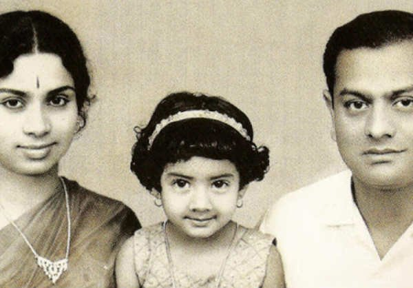 sridevi with parents