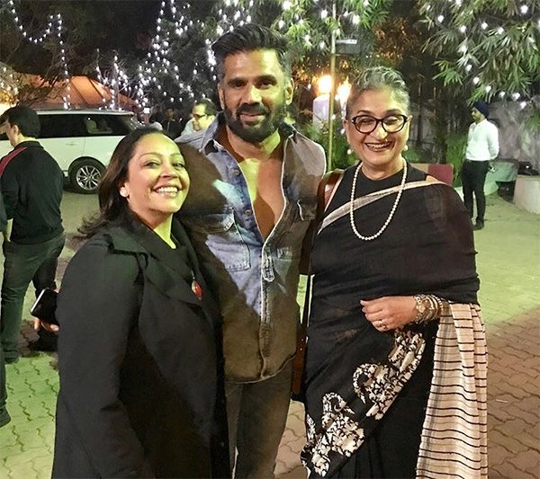 srishti sawhney sunil shetty and viji venkatesh