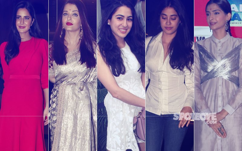 STUNNER OR BUMMER: Katrina Kaif, Aishwarya Rai, Sara Ali Khan, Janhvi Kapoor Or Sonam Kapoor?
