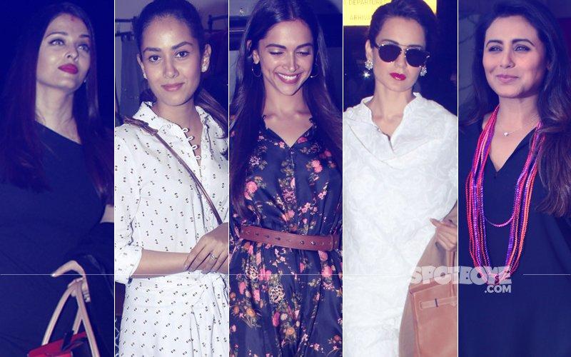 STUNNER OR BUMMER: Aishwarya Rai Bachchan, Mira Rajput, Deepika Padukone, Kangana Ranaut Or Rani Mukerji?