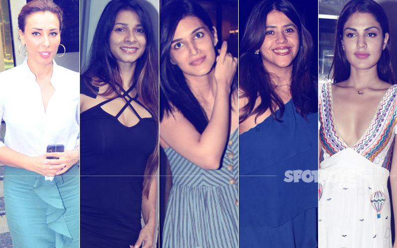 STUNNER OR BUMMER: Iulia Vantur, Tanishaa Mukerji, Kriti Sanon, Ekta Kapoor Or Rhea Chakraborty?