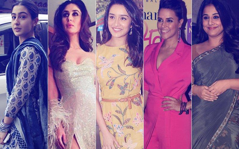 STUNNER OR BUMMER: Sara Ali Khan, Kareena Kapoor, Shraddha Kapoor, Neha Dhupia Or Vidya Balan?