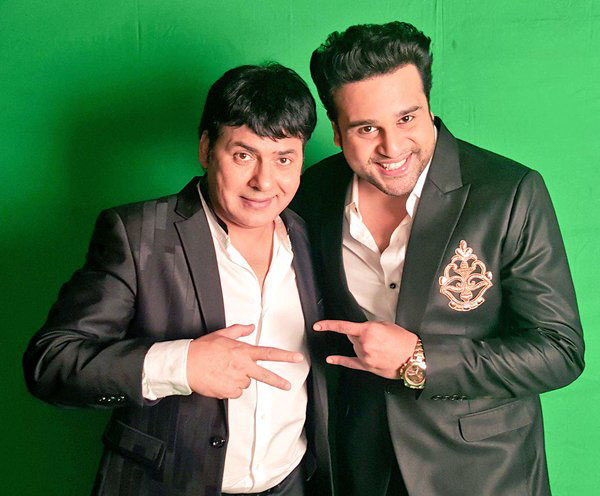 sudesh lehri and krushna abhishek in the green room