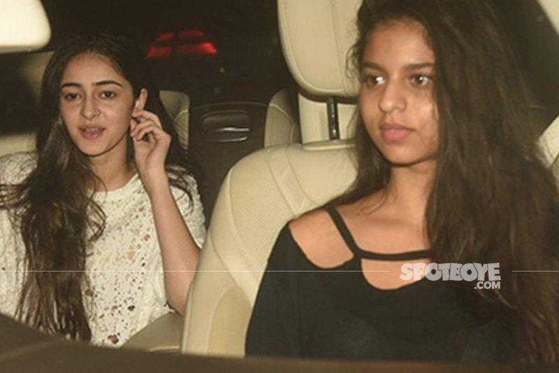 suhana khan and ananya panday snapped at screening of ittefaq