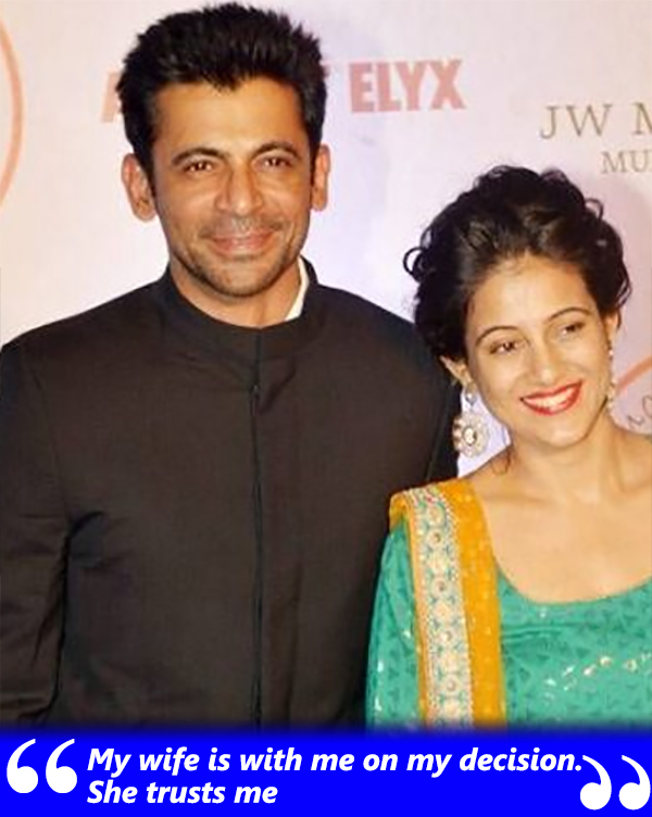 sunil grover talks about his wife aarti