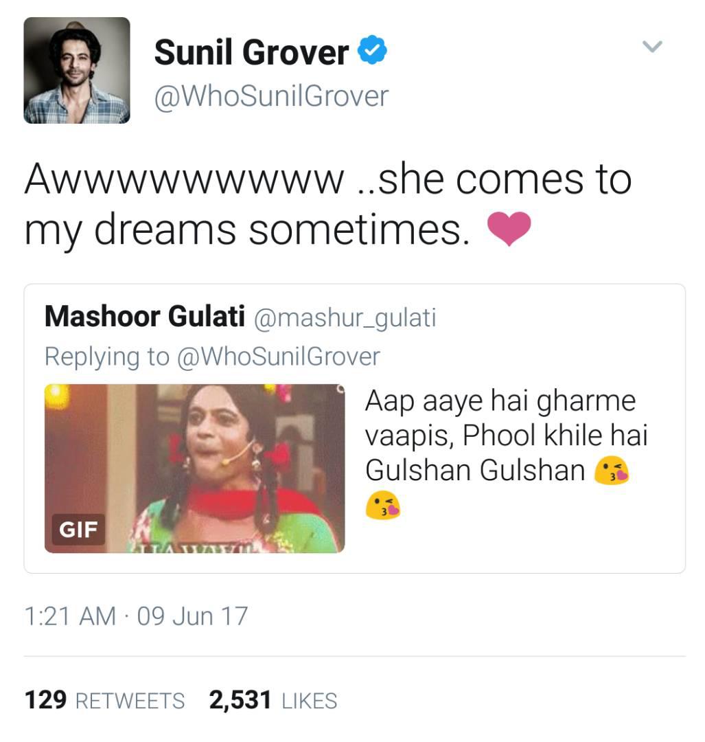 sunil grover twitter post