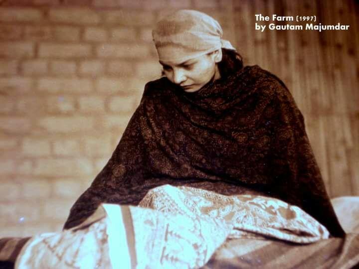 sunita rajwar in the farm