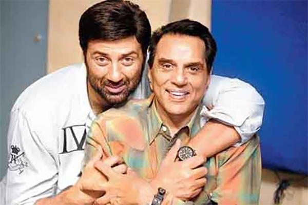 sunny deol with dharmendra