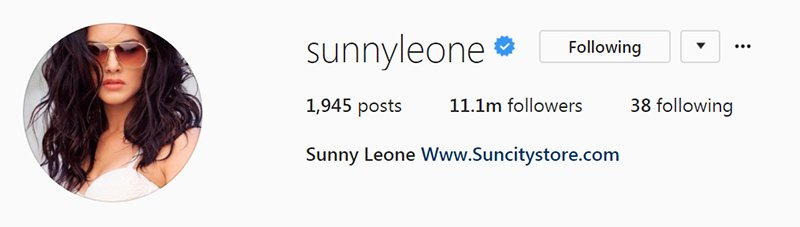 sunny leone s fan following on instagram