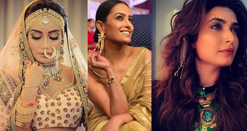 surbhi jyoti anita hassanandani and karishma tanna in naagin 3 season