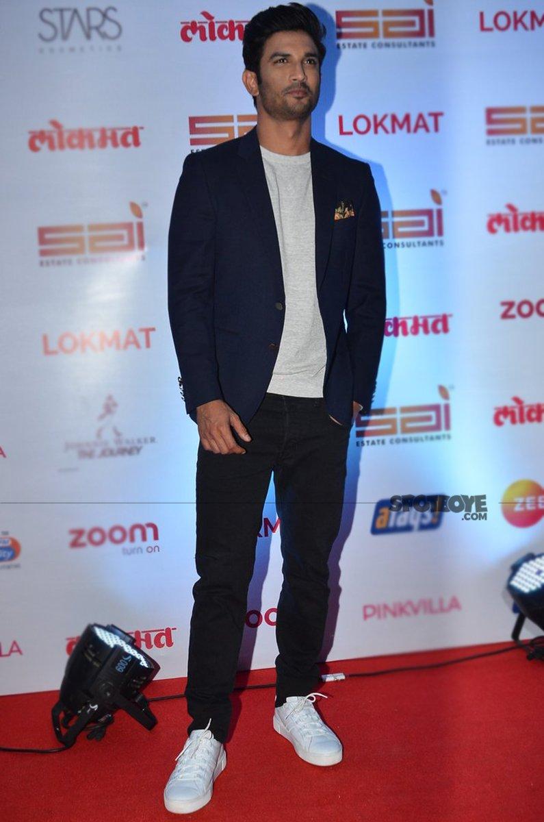 sushant singh rajput at lokmat awards