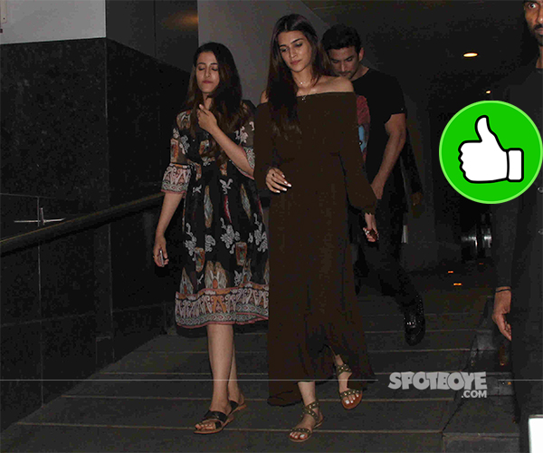 sushant singh rajput kriti sanon snapped post dinner