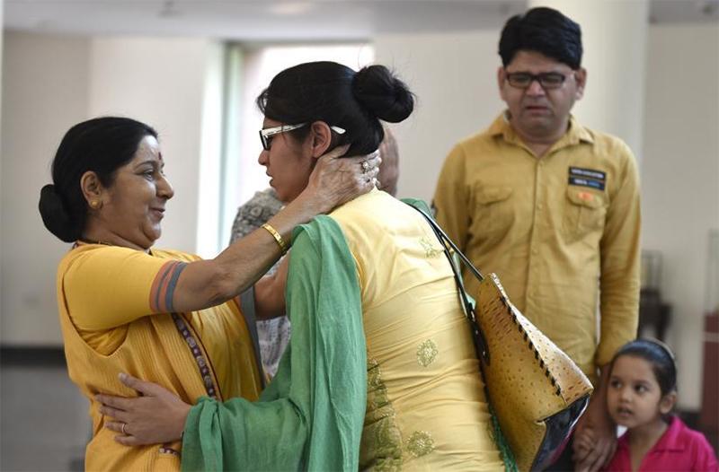 sushma swaraj and uzma ahmed