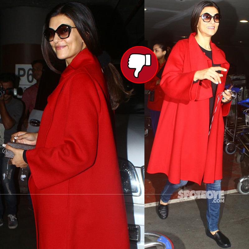 sushmita sen snapped at airport