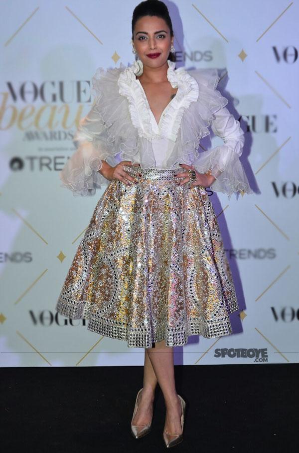 swara bhaskar at vogue beauty awards 2017