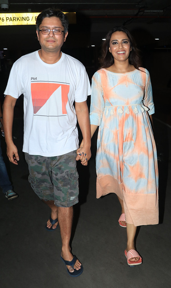 swara bhasker spotted walking hand in hand with boyfriend himanshu sharma