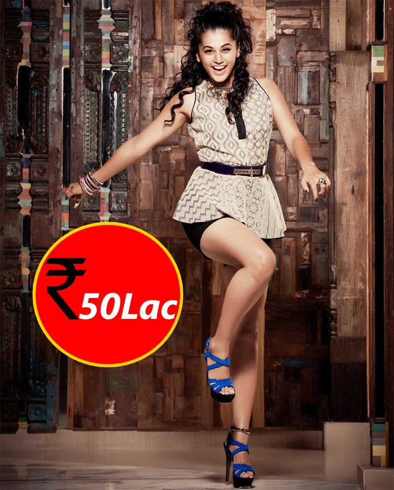 taapsee pannu charges 50 lakh for movies