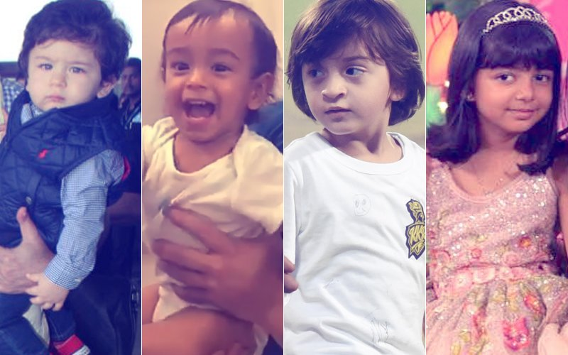 Taimur Snatches Jacqueline's Phone, Ahil Punches Salman, AbRam Goes Crazy  & Aaradhya Dances Like A Star...CUTE Baby Moments From 2017