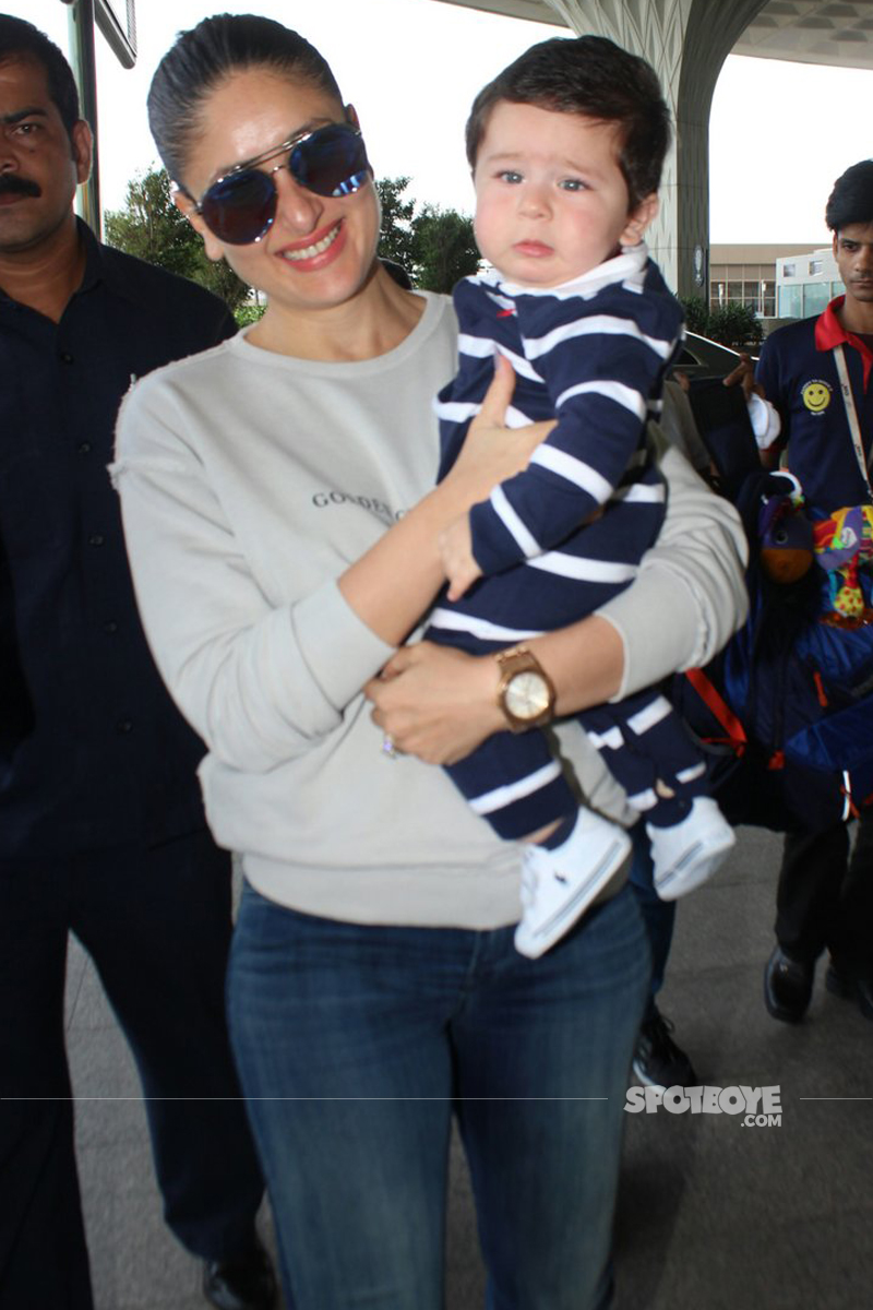 taimur ali khan starts crying after seeing the paps