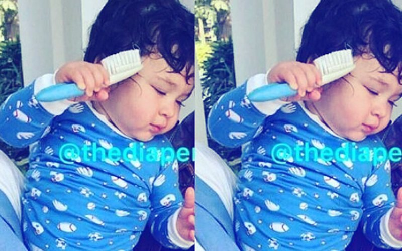 PIC: Look How Taimur Combs His Hair Like A Pro!