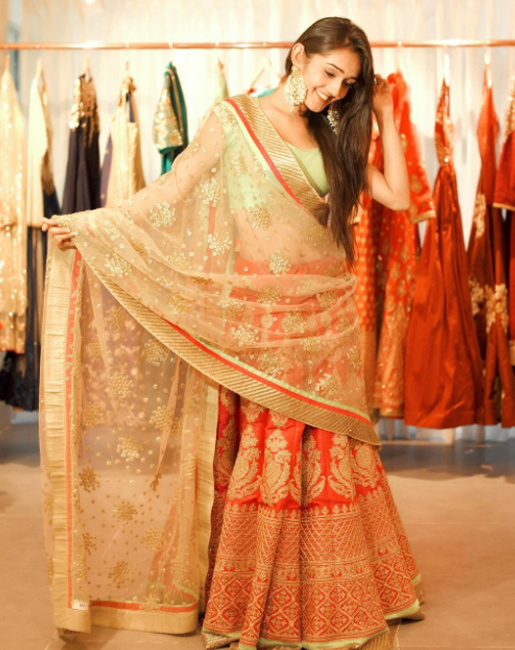 tanya sharma in an indian attire