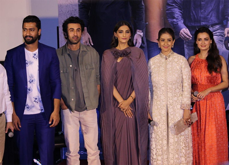 team sanju at the trailer launch
