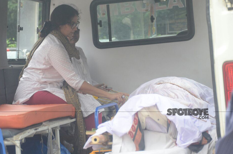 the ambulance carrying rita bhaduri s body