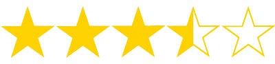 three point five stars