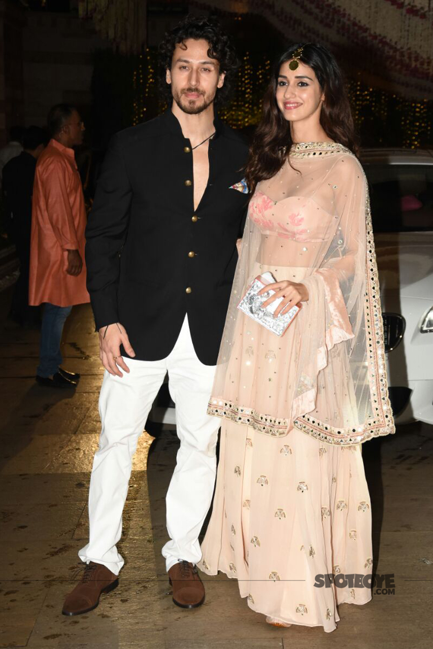 tiger shroff disha patani at ambani ganpati celebration