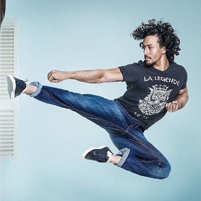 tiger shroff performs an intense stunt