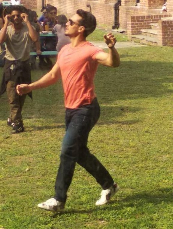 tiger shroff shoots for a song sequence in dehradun