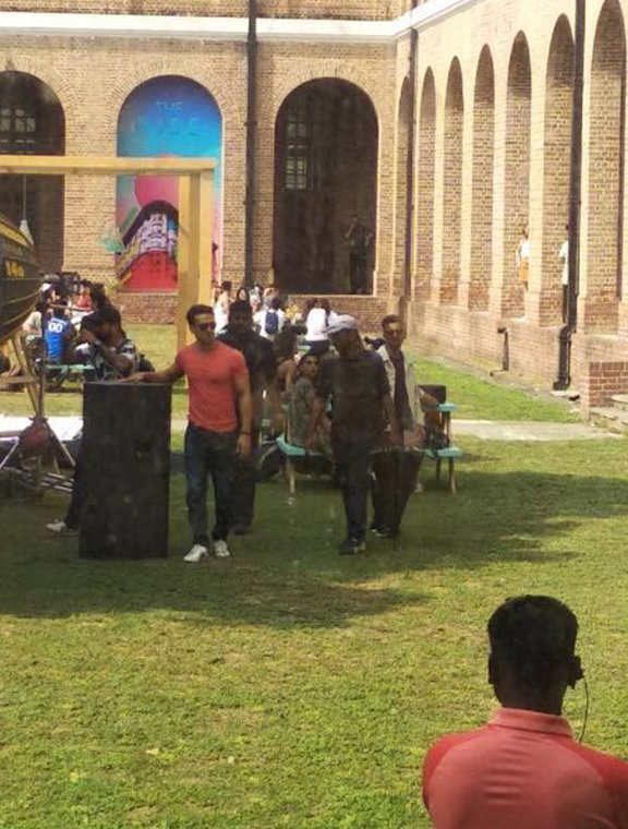 tiger shroff shoots for a song sequence