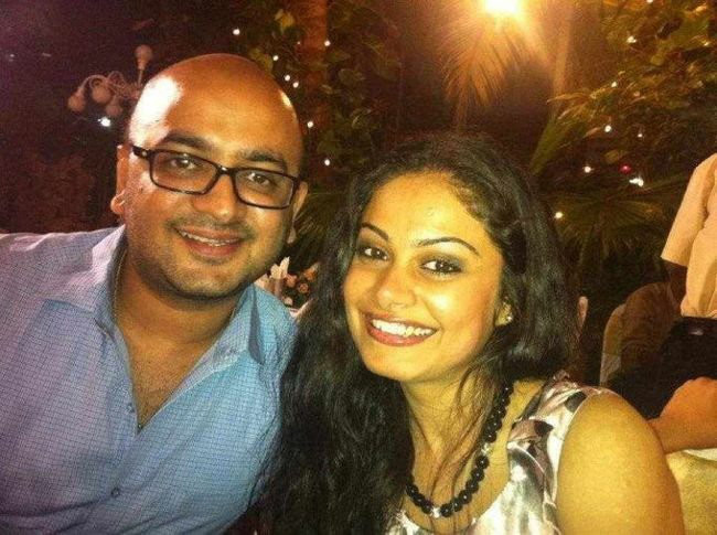 toral rasputra with husband dhaval