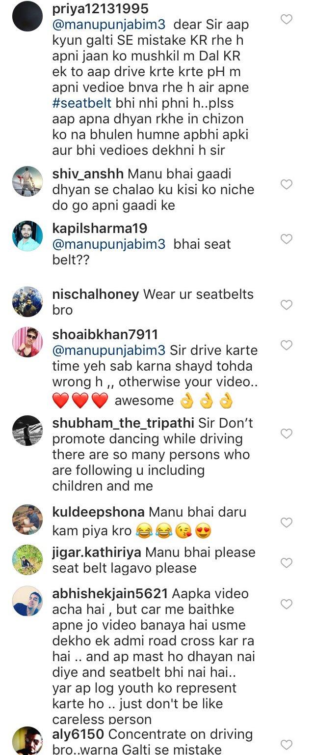 troll comments on manu punjabi video