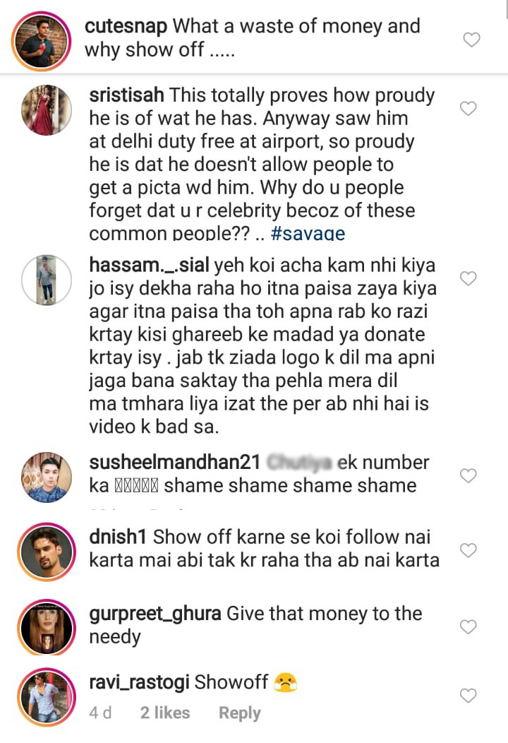troll comments on mika singh instagram post