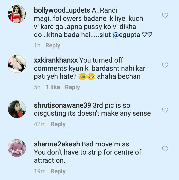 trollers comment on esha gupta bold picture