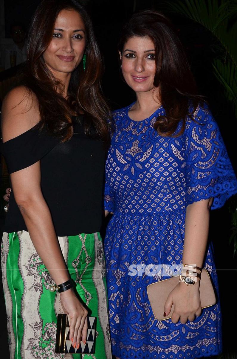 twinkle khanna and gayatri joshi pose for the cameras